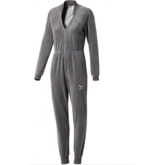 1b088cd66aa Puma Velour T7 Jumpsuit (Quiet Shade) Size MED